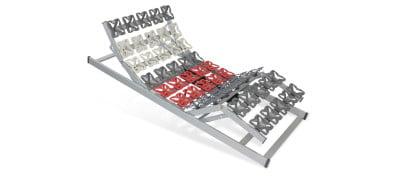 Tellerlattenrost Cirro Modul EKFV - 160 x 200 cm (2x80x200)